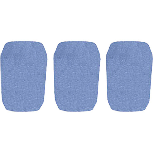 """WindTech 5700 Series Windscreens for 1"""" Diameter Microphones (3 Pack, French Blue)"""