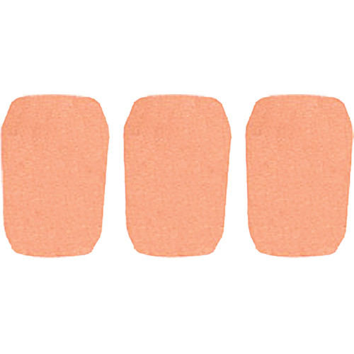 "WindTech 5700 Series Windscreens for 1"" Diameter Microphones (3 Pack, Apricot)"
