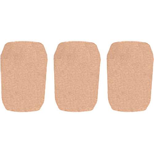 "WindTech 5700 Series Windscreens for 1"" Diameter Microphones (3 Pack, Tan)"