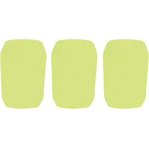 """WindTech 5700 Series Windscreens for 1"""" Diameter Microphones (3 Pack, Neon Yellow)"""