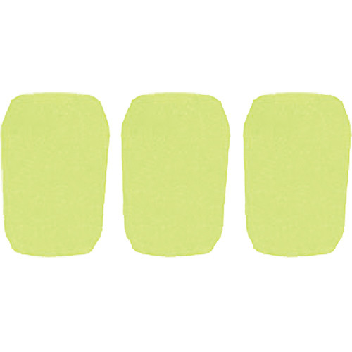 "WindTech 5700 Series Windscreens for 1"" Diameter Microphones (3 Pack, Neon Yellow)"