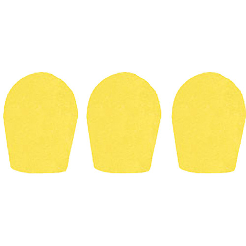 "WindTech 600 Series Windscreens for 1"" Diameter Microphones (3 Pack, Yellow)"