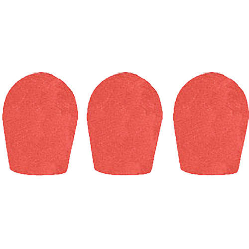 "WindTech 600 Series Windscreens for 1"" Diameter Microphones (3 Pack, Tangerine)"