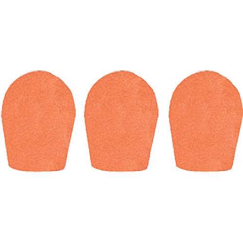 """WindTech 600 Series Windscreens for 1"""" Diameter Microphones (3 Pack, Orange)"""