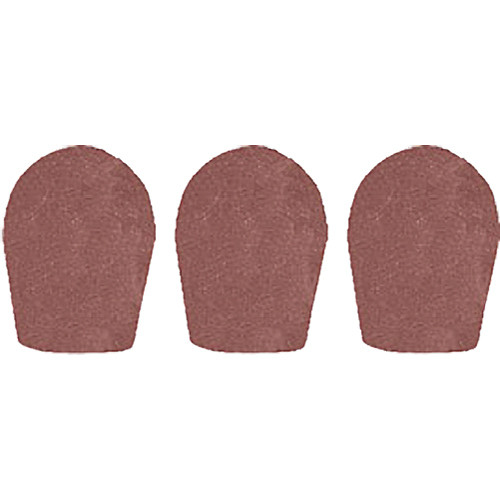 "WindTech 600 Series Windscreens for 1"" Diameter Microphones (3 Pack, Brown)"