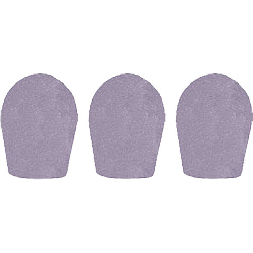 "WindTech 600 Series Windscreens for 1"" Diameter Microphones (3 Pack, Light Grey)"