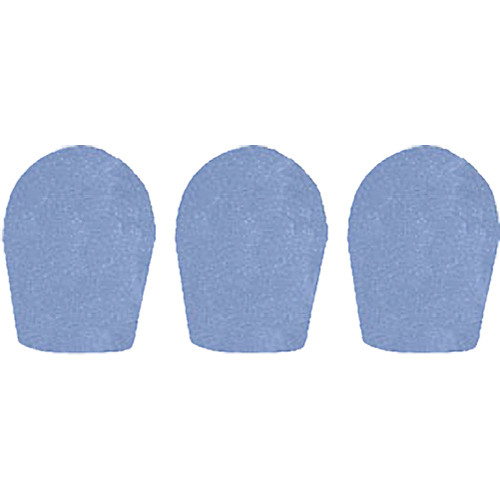 "WindTech 600 Series Windscreens for 1"" Diameter Microphones (3 Pack, French Blue)"