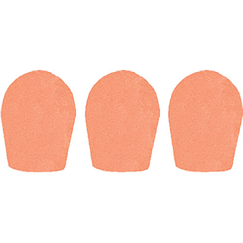 "WindTech 600 Series Windscreens for 1"" Diameter Microphones (3 Pack, Apricot)"