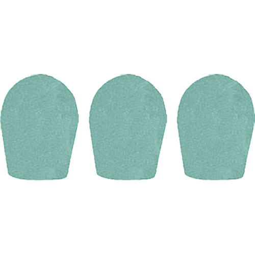 "WindTech 600 Series Windscreens for 1"" Diameter Microphones (3 Pack, Sea Green)"