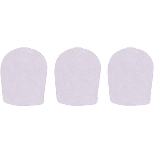"""WindTech 900 Series Windscreens for 1-5/8"""" Diameter Microphones (3 Pack, White)"""
