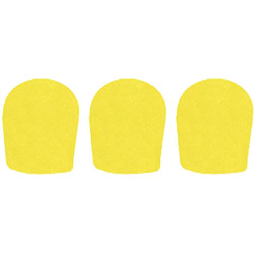 "WindTech 900 Series Windscreens for 1-5/8"" Diameter Microphones (3 Pack, Yellow)"