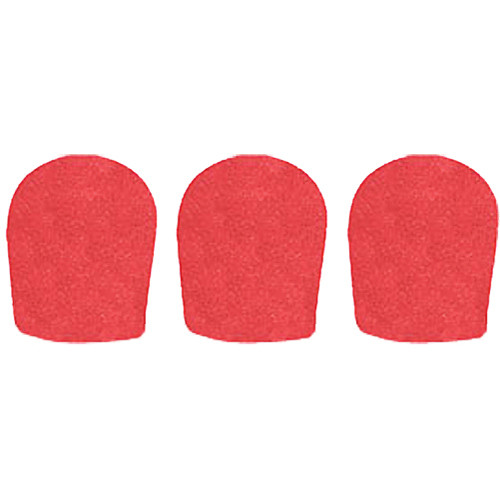 "WindTech 900 Series Windscreens for 1-5/8"" Diameter Microphones (3 Pack, Red)"