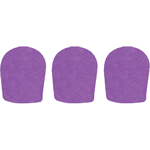 "WindTech 900 Series Windscreens for 1-5/8"" Diameter Microphones (3 Pack, Purple)"