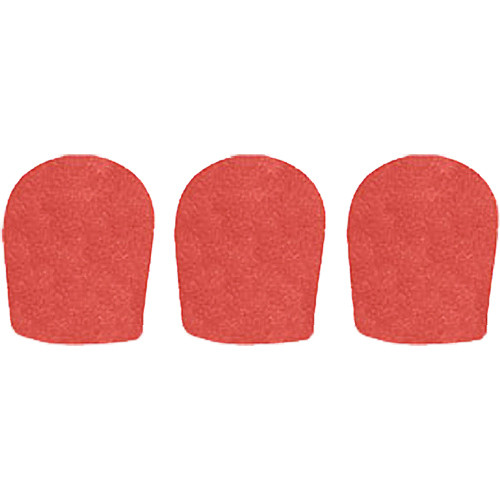 "WindTech 900 Series Windscreens for 1-5/8"" Diameter Microphones (3 Pack, Tangerine)"