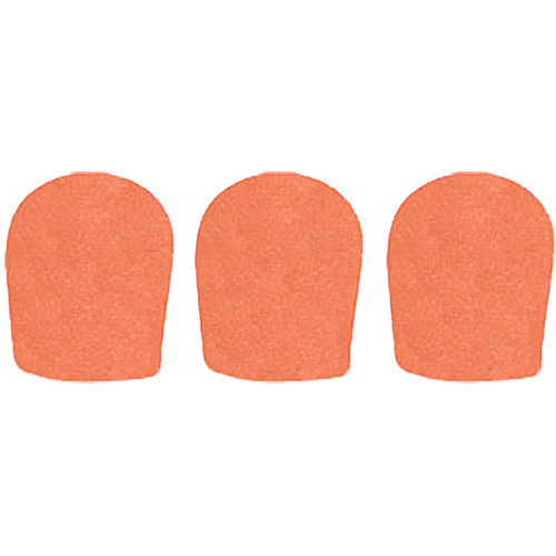 "WindTech 900 Series Windscreens for 1-5/8"" Diameter Microphones (3 Pack, Orange)"