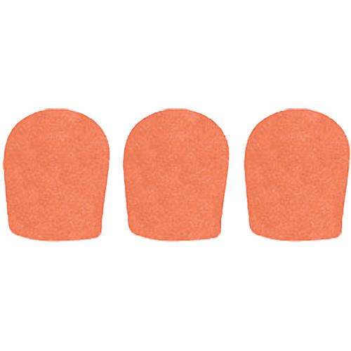 """WindTech 900 Series Windscreens for 1-5/8"""" Diameter Microphones (3 Pack, Orange)"""