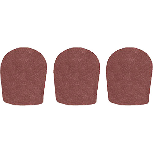 "WindTech 900 Series Windscreens for 1-5/8"" Diameter Microphones (3 Pack, Brown)"