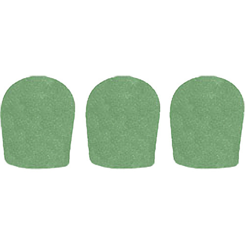 "WindTech 900 Series Windscreens for 1-5/8"" Diameter Microphones (3 Pack, Green)"