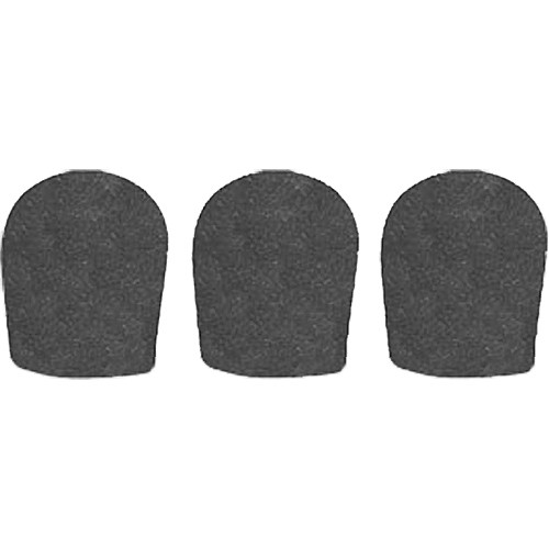 "WindTech 900 Series Windscreens for 1-5/8"" Diameter Microphones (3 Pack, Black)"