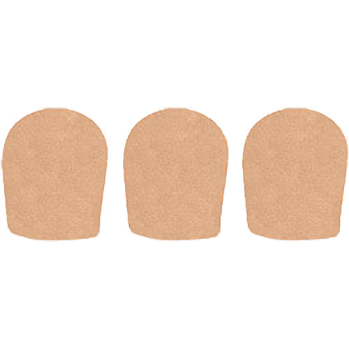 "WindTech 900 Series Windscreens for 1-5/8"" Diameter Microphones (3 Pack, Tan)"