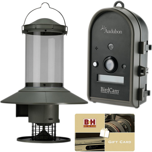 Wingscapes Audubon BirdCam Digital Camera with Everlasting Bird Feeder and Gift Card Kit