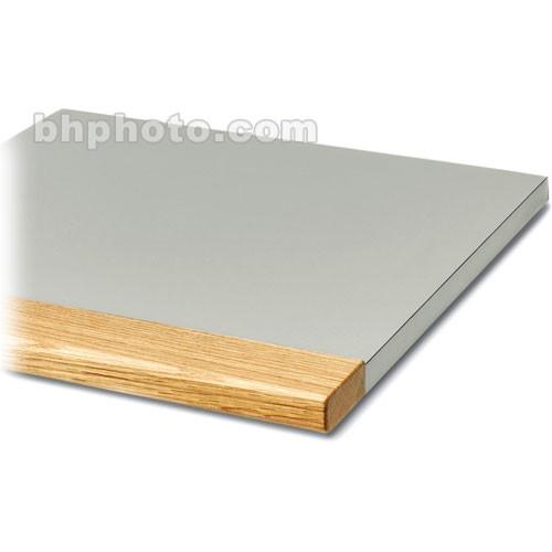 "Winsted 90&deg-Bay Corner Shelf with 3"" Block Oak Front"