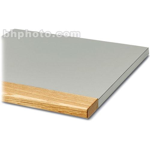 "Winsted Two-Bay Corner Shelf with 3"" Block Oak Front (24"" Deep)"