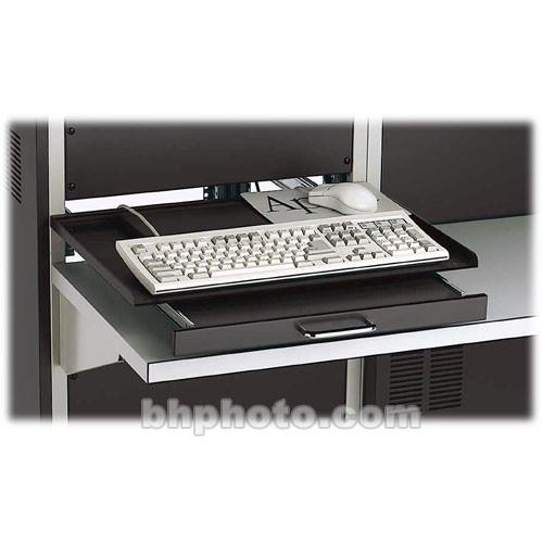 Winsted 88398 Rack Mount Swivel Keyboard Shelf (Black)