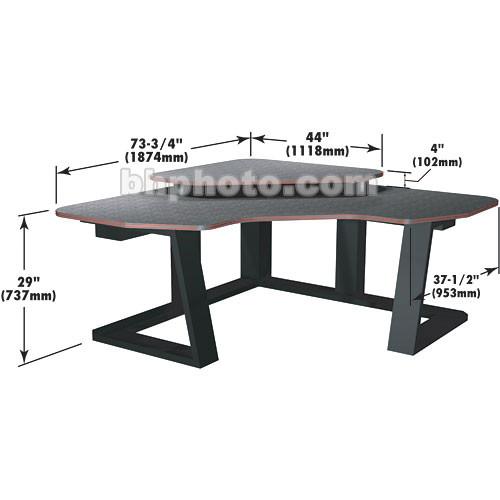 Winsted Digital Corner Workstation Editing Desk  E4545 (Violet)