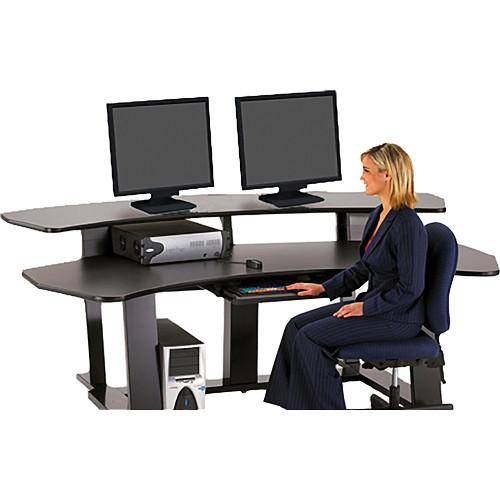 """Winsted E4553 94""""-Wide Digital Desk (Gray)"""
