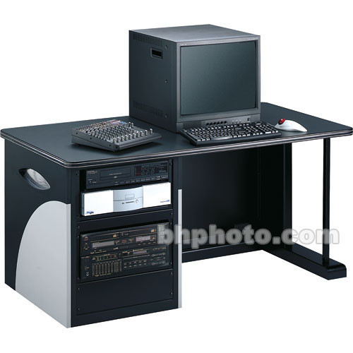 Winsted E4725 Single Rack Cabinet Desk w/Inlays