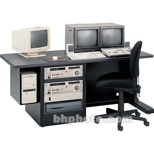 "Winsted E4767 72"" Editing Console with Rack and CPU Holder"