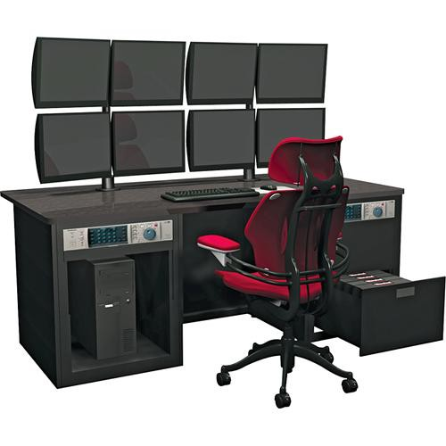 Winsted E4860 Dual Cabinet Graphics Desk with LCD Mount