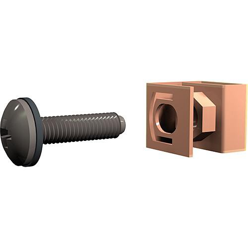 Winsted G8104 Panel Bolts and Clips with Captive Nuts (100-Pack; Black)