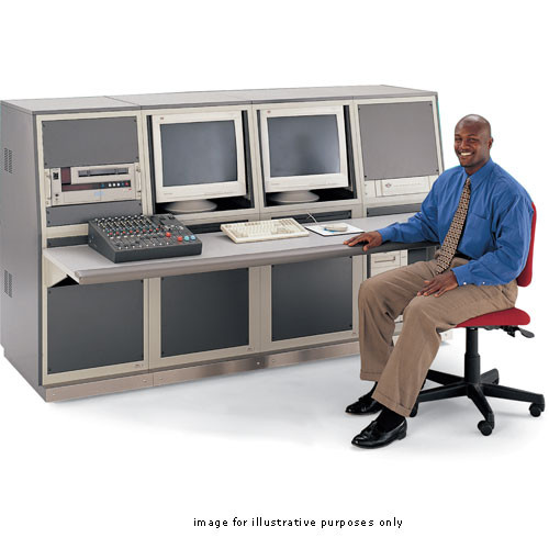 Winsted J8160 Four-Bay Slope Console with Two Racks (System/85 Series)