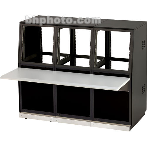 Winsted J8814 Three-Bay Slope Console, System/85 Series (Black)