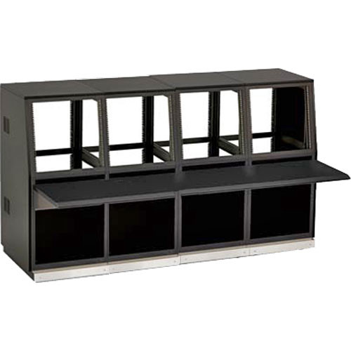 Winsted J8815 Four-Bay Slope Console, System/85 Series (Black)