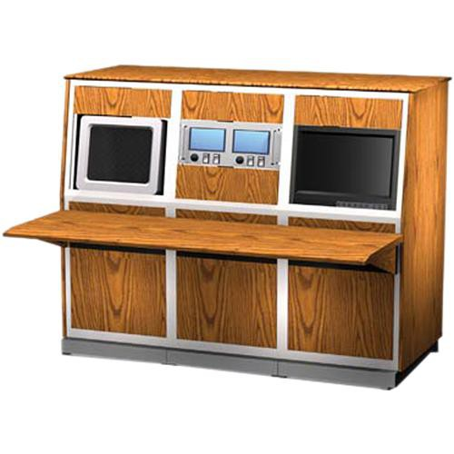 """Winsted K8531 System/85 3-Bay 19.25"""" Custom Wood Console"""