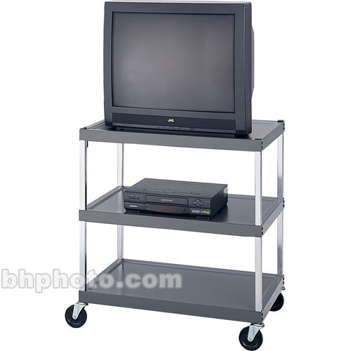 """Winsted 34"""" 3-Shelf Video Stand for 25"""" Monitors"""