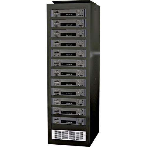 Winsted V9021 Pro Series II DVRack - 45RU DVR Rack with Filtered Fan (Locking Side Panels)