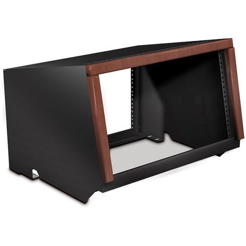 Winsted W5661 6U Rack Cabinet with Wood Trim