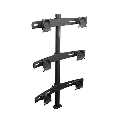Winsted W5685 Six LCD Pole Mount, Triple Tier