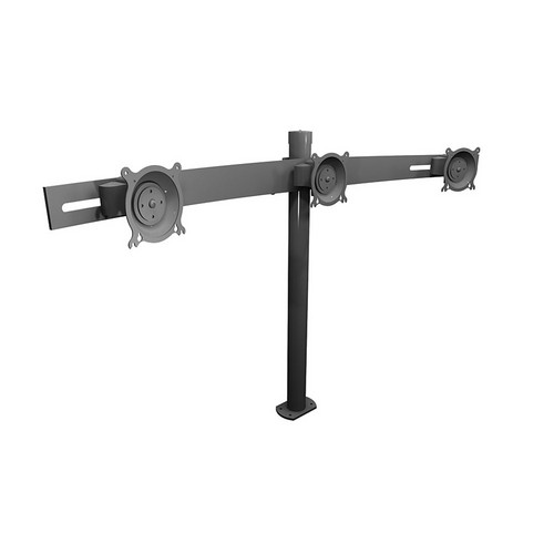 """Winsted W5686 Triple LCD Pole Mount (Horizontal Height - 28.5"""")"""
