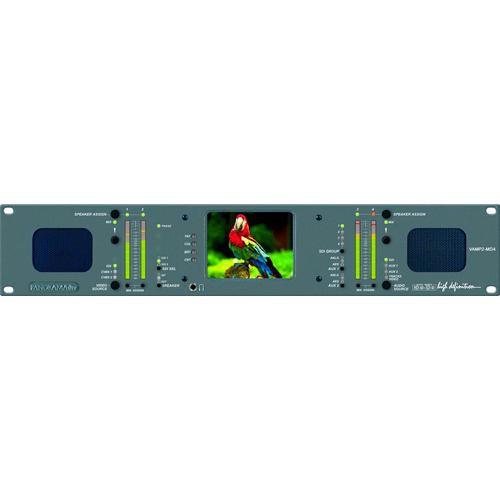 "Wohler VAMP2-MDA - HD/SD-SDI/AES/CBVS Analog A/V Monitor, 4"" LCD"