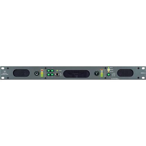 Wohler VMDA-4 AES/Analog Audio 2/8 Channel Monitor, Meters, Speakers