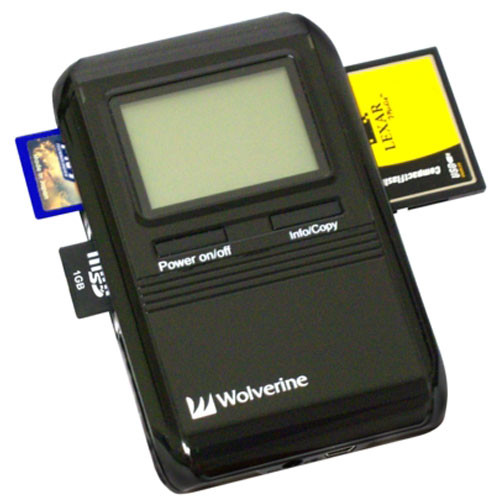 Wolverine Data PicPac - 250GB Capacity Portable Data Storage Device & Media Reader