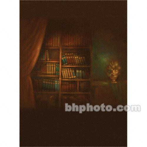 Won Background Muslin Xcanvas Background - Book Shelf - 10x10'