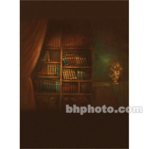 Won Background Muslin Xcanvas Background - Book Shelf - 10x20'