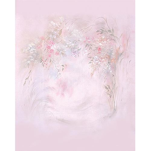 Won Background Muslin Xcanvas Background - Pink Floral - 10x10'