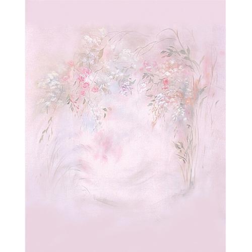 Won Background Muslin Xcanvas Background - Pink Floral - 10x10'